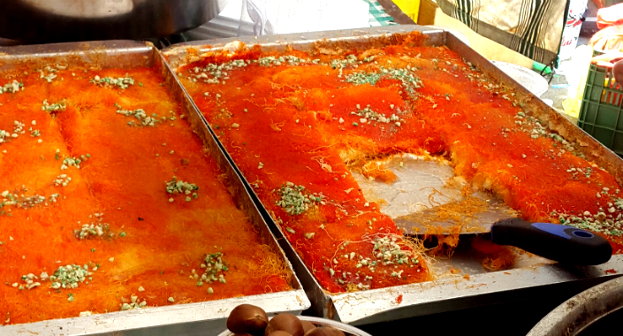 Knafeh from the market